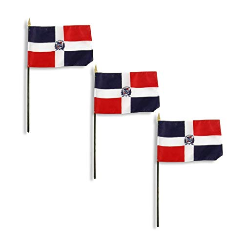 Online Stores Dominican Republic Flag 4 x 6 inch - 3 PK