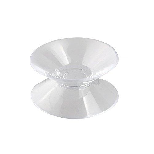 Viudecce 9 x Ventosa para Coche Doble Cara Plastico Blando Transparente
