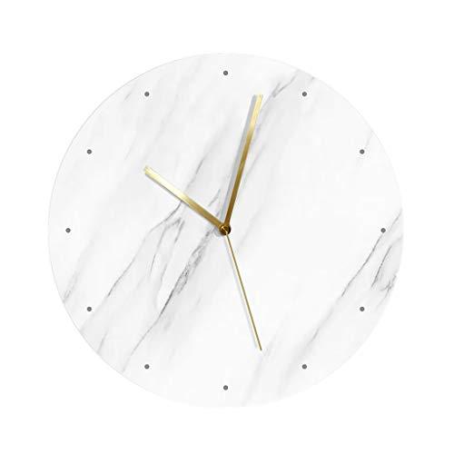 Décoration Horloge Murale, Motif De Marbre Blanc Muet Ménage Horloge Murale Café Restaurant Bar Multifonction Salon Mur Montage Horloge Murale (Couleur : C)