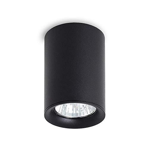 LED Deckenleuchte Aufbauleuchte MANGO Rund Eckig Gu10 Schwarz Weiß IP20 Aufbauspot Deckenspot Downlight (Mango Round Schwarz)