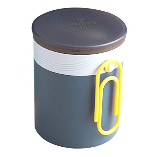 Cabilock Garrafa de alimentos de aço inoxidável mini copo de sopa selado caneca de mingau copo à prova de vazamento para almoço do café da manhã (azul)
