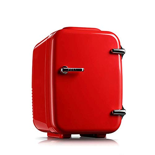 BAOZUPO Mini refrigerador cosmético con Estilo/refrigerador portátil pequeño para automóvil -4L- Transición silenciosa, Caliente y fría, 12V / 110 / 220V, Utilizado para Maquillaje y Cuidado de la p