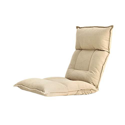 TXXM Lazy Sofa Freizeit Faltbarer Einzellehner Schlafsaal Schlafzimmer Bett Computer Stuhl (Farbe: Khaki)