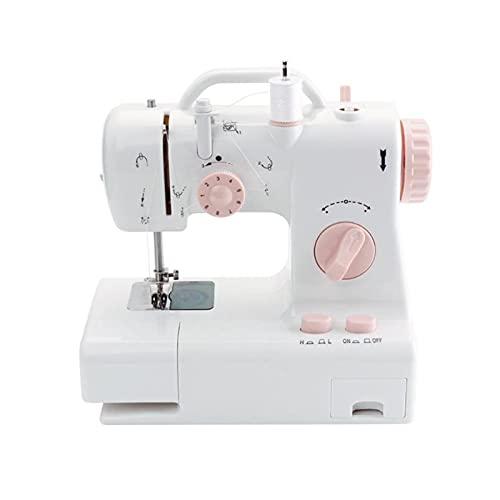 AMDHZ Sewing Machine, Mini máquina de Coser Máquina de Coser portátil 6W, Máquina de Coser eléctrica Multifuncional for Telas de Ropa for el hogar (Size : 24X12X22cm)