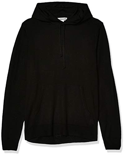 Goodthreads Merino Wool Pullover Hoodie Sweater Felpa, Nero, S
