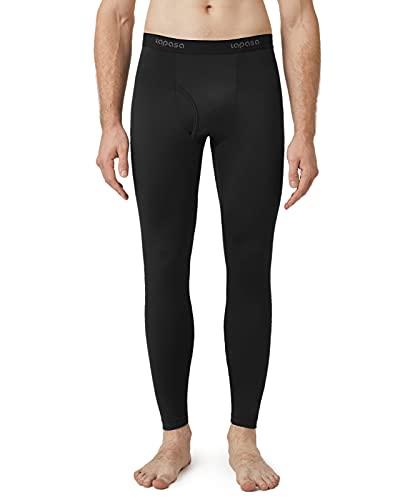 LAPASA Calzamaglia Termica Leggera Uomo Foderata in Pile sotto Pantaloni Termici Sportivi Strato Base Biancheria Intima Termica Leggings Caldi M10