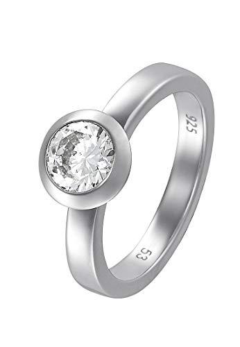 JETTE Silver Damen-Damenring 925er Silber 1 Zirkon 55 Silber 32004875