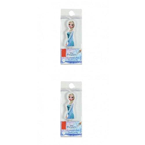 Lot de 2 mini Bougies LA REINE DES NEIGES Disney (Elsa Elsa)