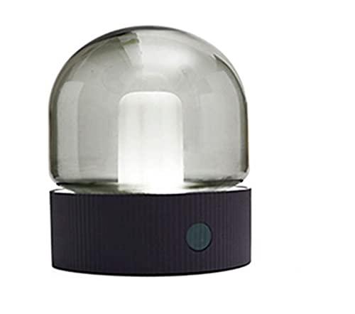 Peerlights - Bombilla inalámbrica/lámpara de mesa - Mini bombilla LED - Bombilla incandescente - Batería - Luz de ambiente - Regulable - Gris