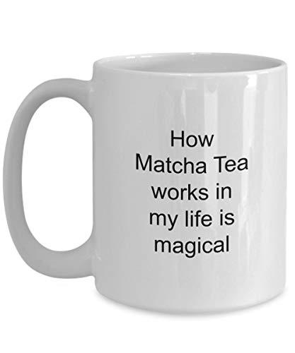 Eli231Abe Hoe Matcha Thee werkt in mijn leven is Magical Muggift voor Tea Lover