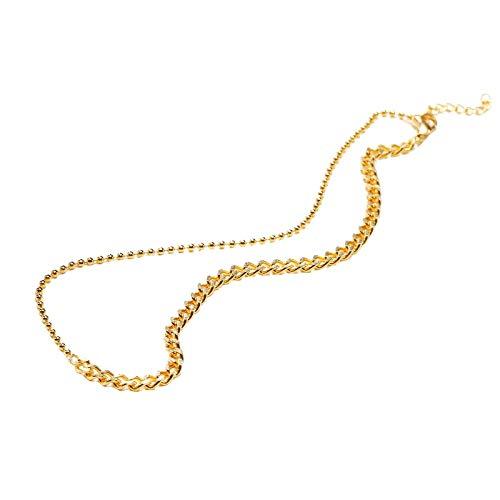 AnazoZ Colgante Mujer,Collares Acero Inoxidable Mujer Cadena Collar Oro