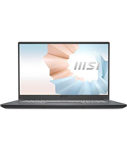 "MSI Modern 15 A11SB-066XES - Ordenador portátil de 15.6"" FHD (Intel Core i7-1165G7, 16 GB RAM, 1 TB SSD, NVIDIA GeForce MX450, sin Sistema operativo) Urban Silver - Teclado QWERTY Español"
