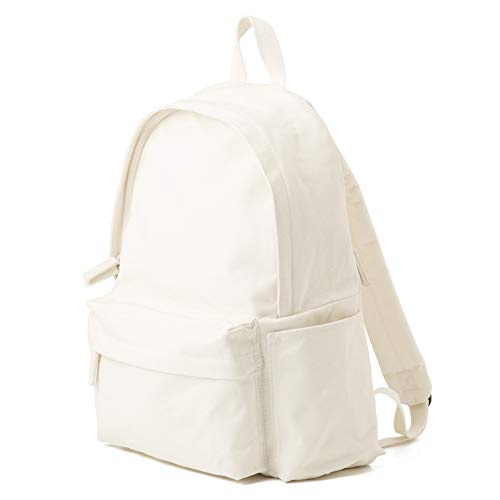 Muji Shoulder Comfort Water Repellent Organic Cotton Rucksack, Raw White