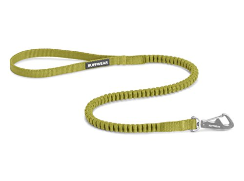 Ruffwear Kurze elastische Hundeleine, Alle Hunderassen, Länge: 0,75 m - Dehnbar bis 1,3 m, Breite: 15 mm, Forest Green, Ridgeline Leash, 40501-307