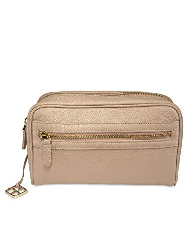 YOUBAG Izar Belt Bag - Riñonera de piel italiana para mujer (longitud de correa S, hecha a mano) Beige polvos de talco