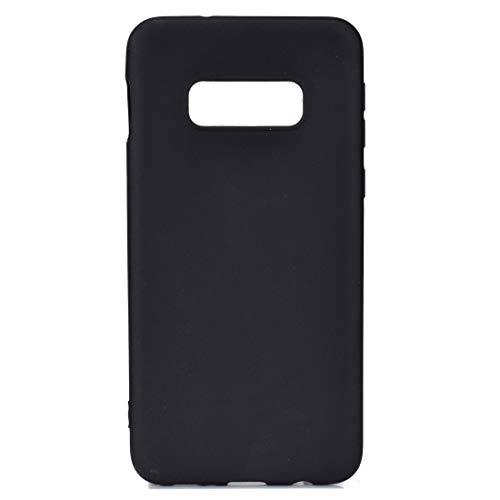 BSA - Carcasa para Samsung Galaxy S10e SM-G970F, color negro, TPU flexible, suave, ultrafina, antiarañazos, HD, compatible con smartphone