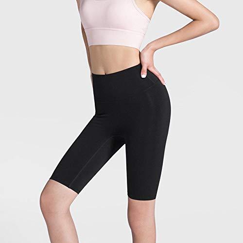 bayrick Celebridad de Internet Mismo Estilo,Secado rápido High-Cintura Fitness Fitness Pans Mujeres Sin Fisuras Yoga Shorts-Negro_Metro
