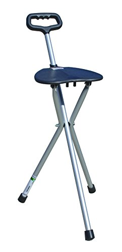 Essential Medical Supply Three Legged Seat Cane with Handle