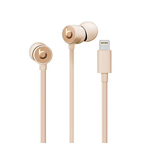 Urbeats3 Wired Earphones with Lightning Connector - Tangle Free Cable, Magnetic Earbuds, Built in Mic and Controls - Gold