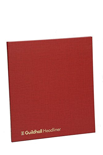 Guildhall Headliner - Bloc para gráficos y datos, rojo