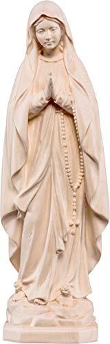 Ferrari & Arrighetti Imagen de Nuestra Señora de Lourdes en Talla de Madera con Acabado Natural Que Mide 10 cm - Demetz Deur