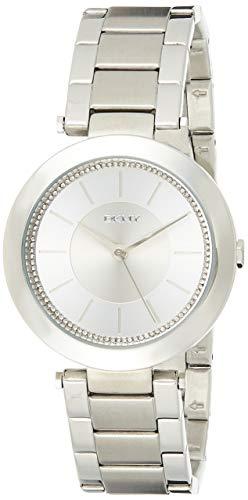 DKNY (DNKY5)-Orologio da donna al quarzo con Display analogico e cinturino in acciaio INOX color argento NY2285