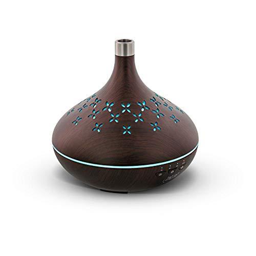 InLine SmartHome 40154 - Difusor de aroma por ultrasonido, humidificador, luz ambiental, compatible con Google Home y Amazon Alexa