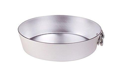 Pentole Agnelli ALMA14324 Alluminio Professionale 3 mm, Tortiera Conica con Anello, 24 cm