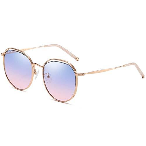 N\C Gafas de Sol cuadradas de Degradado de piloto de Moda Gafas de Sol de Metal Retro para Hombres y Mujeres