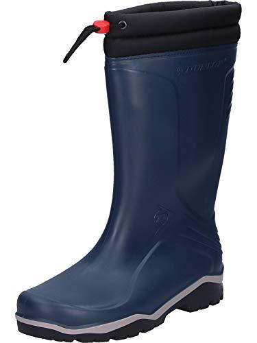Dunlop Blizzard gefütterte Herren Gummistiefel, Blau (Blue/Grey/Black), 40 EU