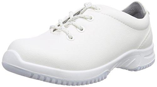 Abeba Unisex-Erwachsene uni6 1780 Halbschuh S2 küchengeeignet Stahlkappe Sicherheitsschuhe, Weiß (weiß), 48