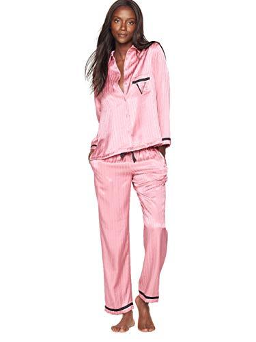 Victoria`S Secret - El Pijama De Satén - Rosa Crepúsculo - Small