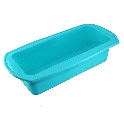 Beste kwaliteit – dit product is bestemd voor thuisgebruik, de easter familiekeuken rechthoekig silicone mold baking toast candy mold baking tool doe-het-zelf keukenhulp maken – van Rocco – 1 pc blauw