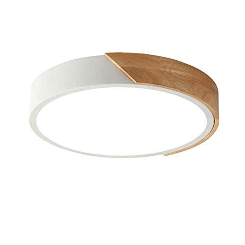 Plafoniera LED tricromatica tonda dimmerabile da incasso,bianca,30 cm