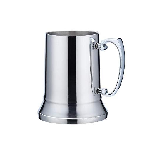 QLTY Jarra de Cerveza de Doble Capa de Acero Inoxidable (450 ml / 560 ml),Taza de café,Copa de cóctel,Vasos de Cerveza,Vaso de Acero Inoxidable para Exteriores,Taza de Acero Inoxidable