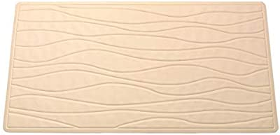 "Ben & Jonah Rubber Bath Tub Mat in Bone, Size 20"" Long X 13"" Wide Splash Collection by Ben&Jonah"