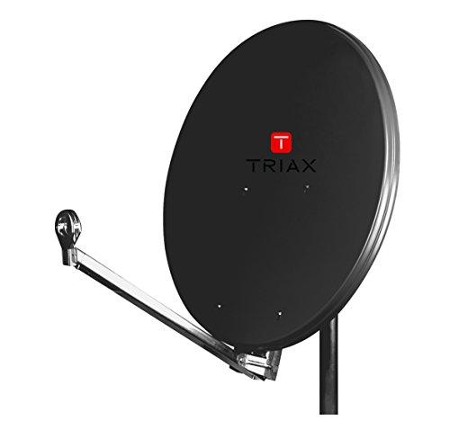 Triax Hit FESAT 75 SG Antenne Noir Gris 37,3 dBi, 10,7 - 12,75 GHz, 15 - 45°, 21°, 750 mm, 800 mm
