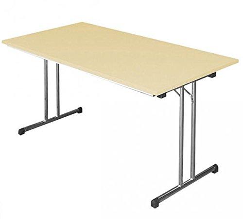 KLAPPTISCH Besprechungstisch Kantinentisch Verkaufstisch Schreibtisch 180x80 Buche/chrom 350631