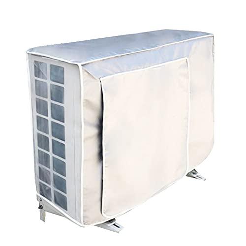 Funda Protectora para Aire Acondicionado Exterio Cubre Aire Acondicionado Exterior Antipolvo Antinieve Protegido Sol Tejido Oxford para Unidad Externa de Aire Acondicionado 1.5P (80 * 26 * 57cm)