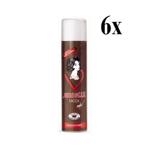 6X Jan Rossetti lacca forte Ecofix Fix Spray per capelli tenuta forte capelli Spray 400ML