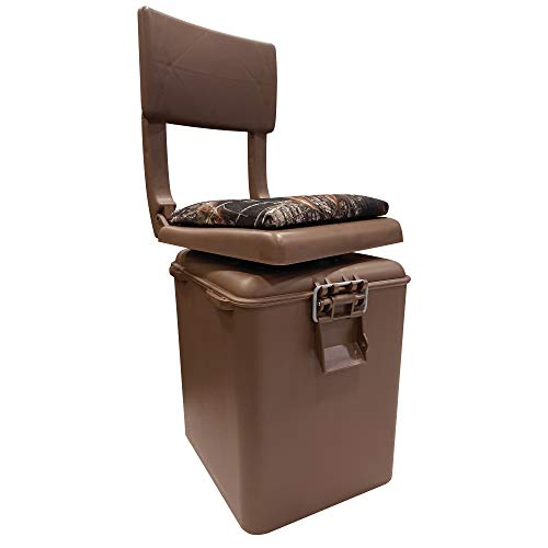 Wise Outdoors Super Sport Hunting Seat with Insulated Cooler, Brown/Break-Up Camouflage