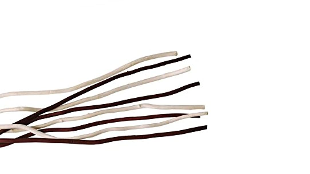 十一変わる単独でmercyu(メルシーユー) mercyu 交換用 リード 柳 45cm 10本入 2色混合 MRUS-RWOWM (WB(ホワイト&ブラウン))