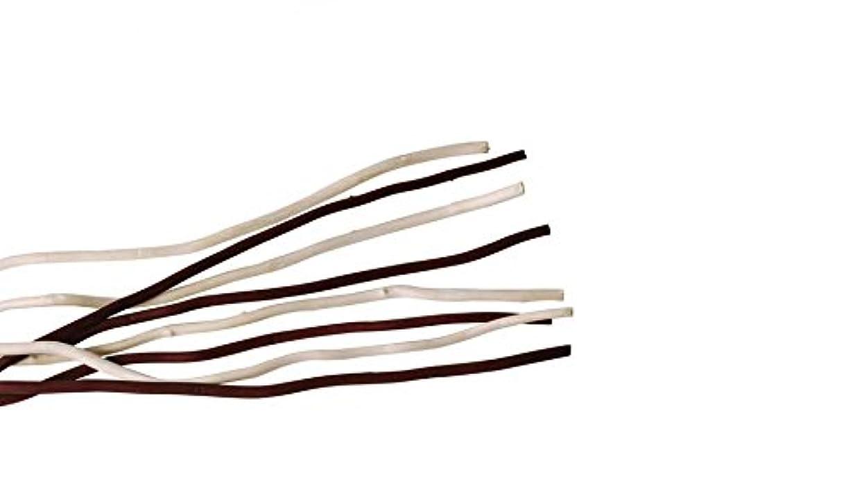 骨折路面電車話すmercyu(メルシーユー) mercyu 交換用 リード 柳 45cm 10本入 2色混合 MRUS-RWOWM (WB(ホワイト&ブラウン))