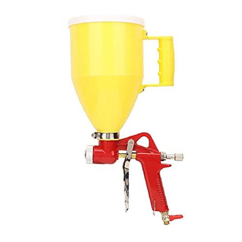 nJiaMe Pulverizador de Pintura a Prueba de Agua 3L Embudo Textura de la Pintura en Spray de Herramientas con 3 Boquilla para Techo