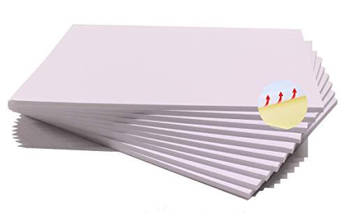 Chely Intermarket carton pluma adhesivo A4 blanca con espesor de 5mm/10 unidades/foam board rectangular para manualidades, foto o soporte(541-A4*10-0,45)