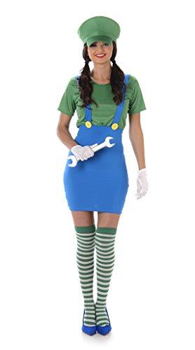Karnival- Girl Plumbers (Green) Costumes, 81003, Vert, Moyen