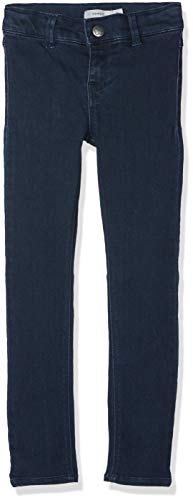 NAME IT NAME IT Mädchen Jeans NKFPOLLY DNMTERA 3077 PANT NOOS Blau (Dark Blue Denim), 92 (Herstellergröße: 92)