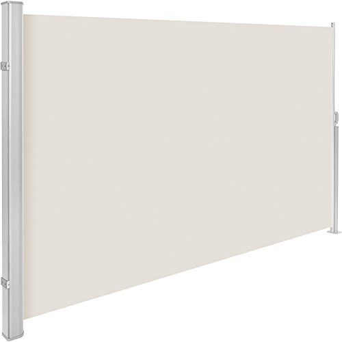 TecTake Tende da Sole paravento Laterale frangivento Estensibile Corpo e Assistenza Post Interamente in Alluminio - Disponibile in Diversi Colori e Diverse Misure - (Beige | 200x300cm | No. 401532)