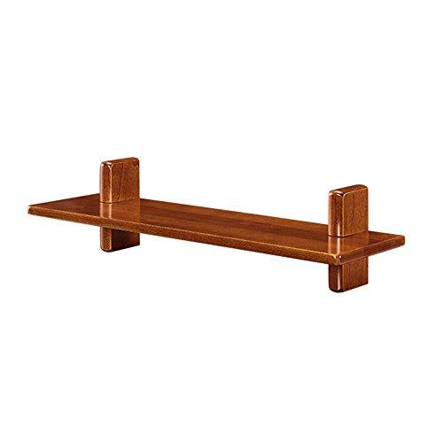 YLCJ boekenkast massief hout wandplank achtergrond wandframe 60/80 * 18 * 15 cm (kleur: walnoot kleur, grootte: 60 * 18 * 15 cm)