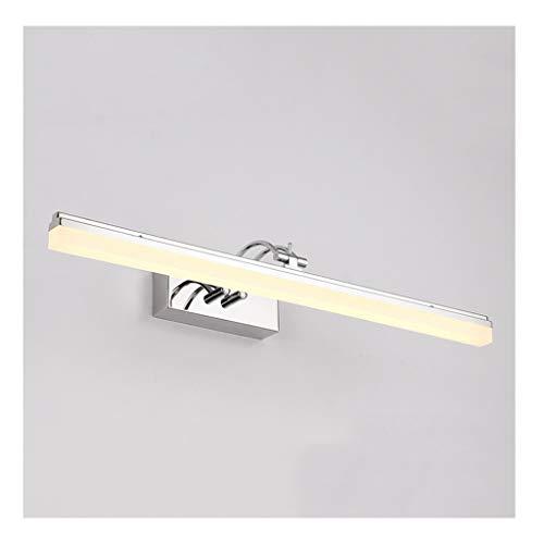Led-spiegel voorlamp, badkamer-editeliteitsspiegellicht, led, vochtbestendig, eenvoudig, voor slaapkamer, make-uptafel, spiegel, hal, lampenkop kan 140 graden worden gedraaid